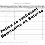 Petice za zachování Nemocnice na Bulovce